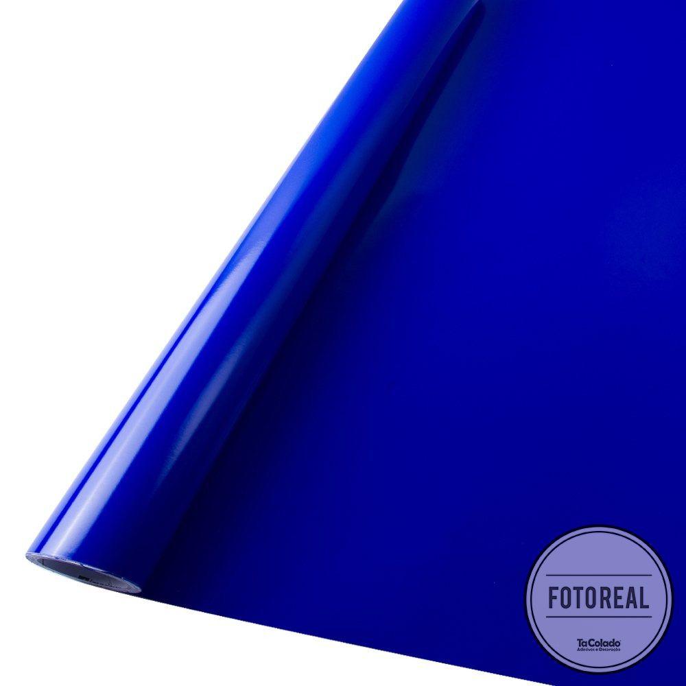 Adesivo para envelopamento automotivo Imprimax Gold Max Azul Cobalto 1,22m  - TaColado