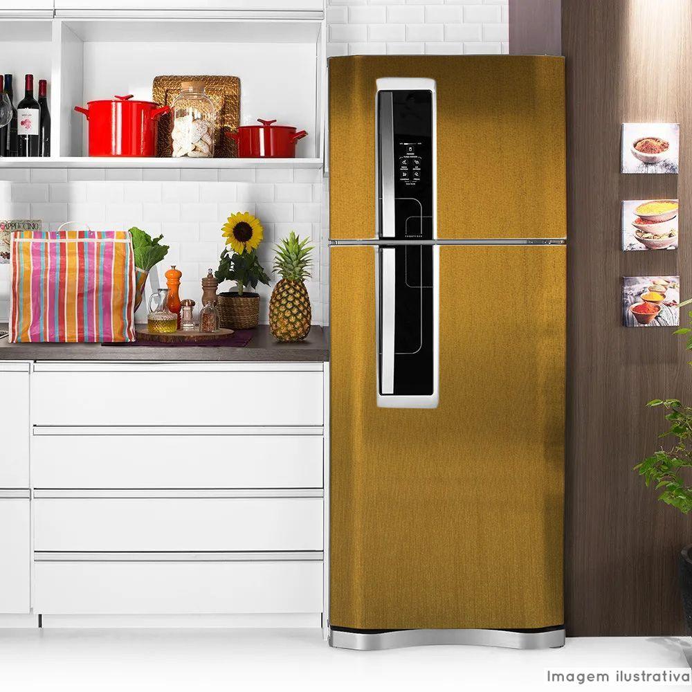Adesivo para geladeira Escovado Bronze 1,22m  - TaColado