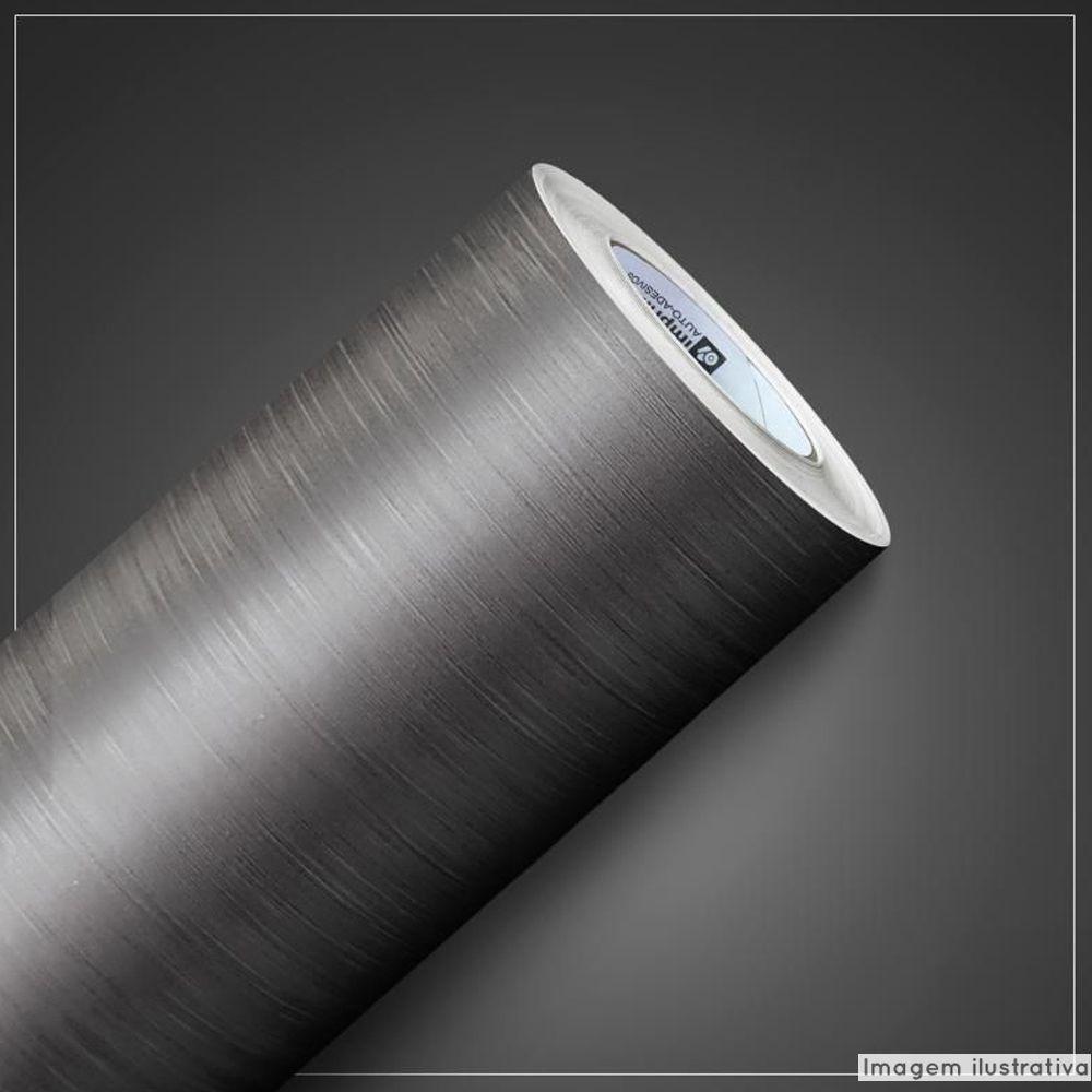 Adesivo para geladeira Escovado Grafite 1,22m  - TaColado