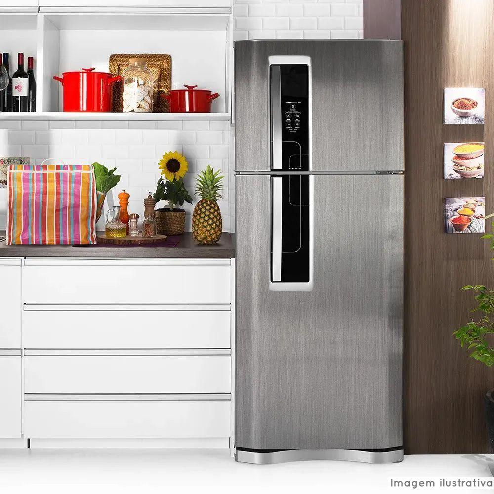 Adesivo para geladeira Escovado Inox 1,22m  - TaColado