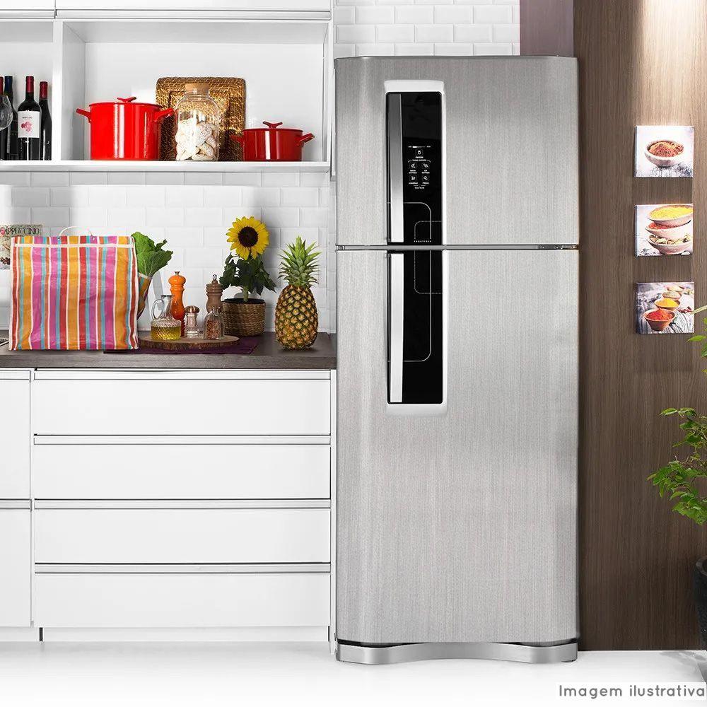 Adesivo para geladeira Escovado Prata 1,00m  - TaColado