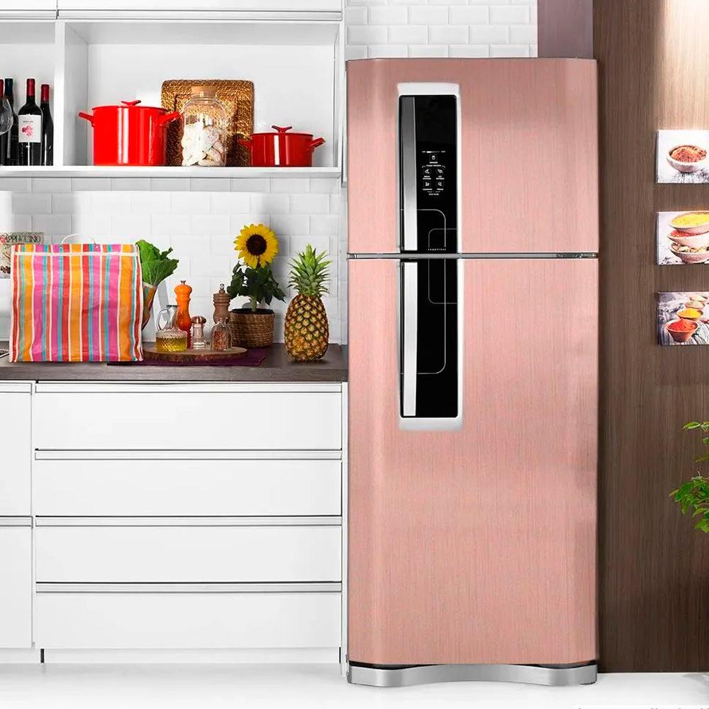 Adesivo para geladeira Escovado Rose 0,61m  - TaColado
