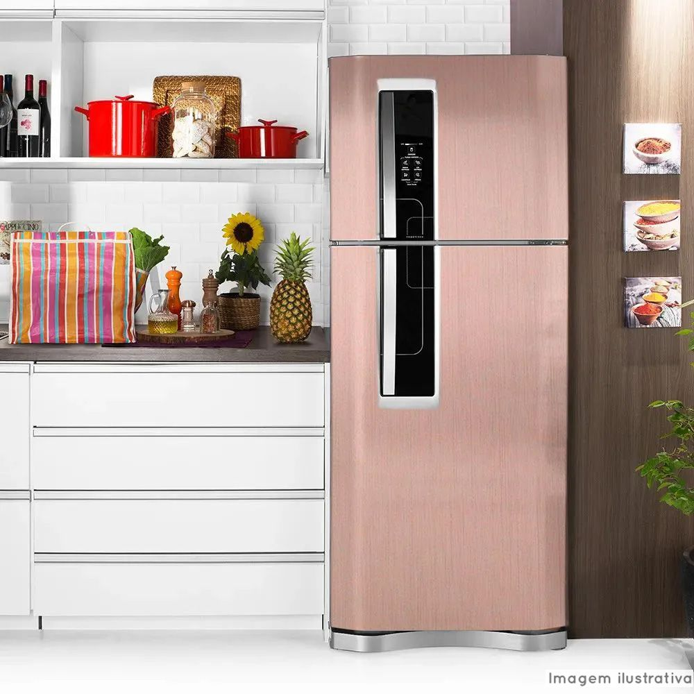 Adesivo para geladeira Escovado Rose 1,22m  - TaColado