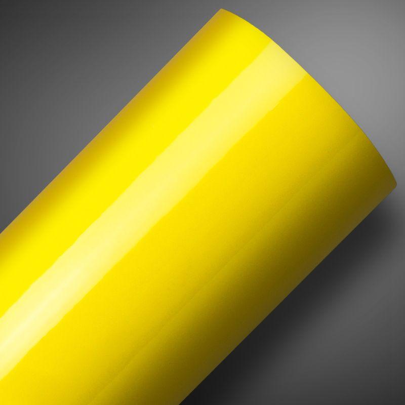 Adesivo para móveis Alto Brilho Amarelo Ouro 0,61m  - TaColado