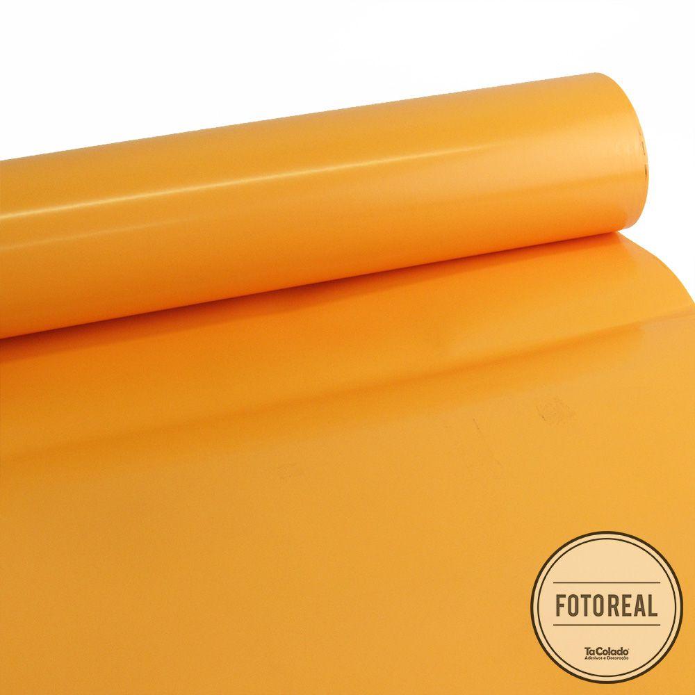 Adesivo para móveis Laca Alto Brilho Apricot 0,61m  - TaColado