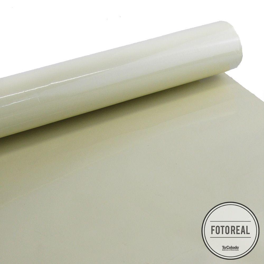 Outlet - Adesivo para móveis Alto Brilho Creme 0,61m  - TaColado