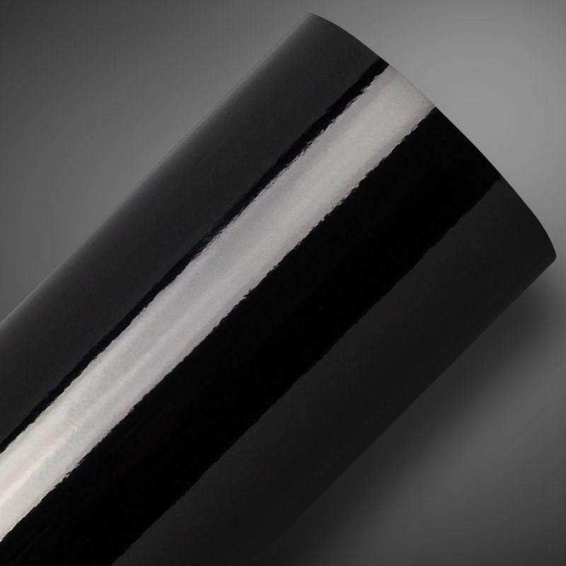 Outlet - Adesivo para móveis Alto Brilho Preto 0,61m  - TaColado