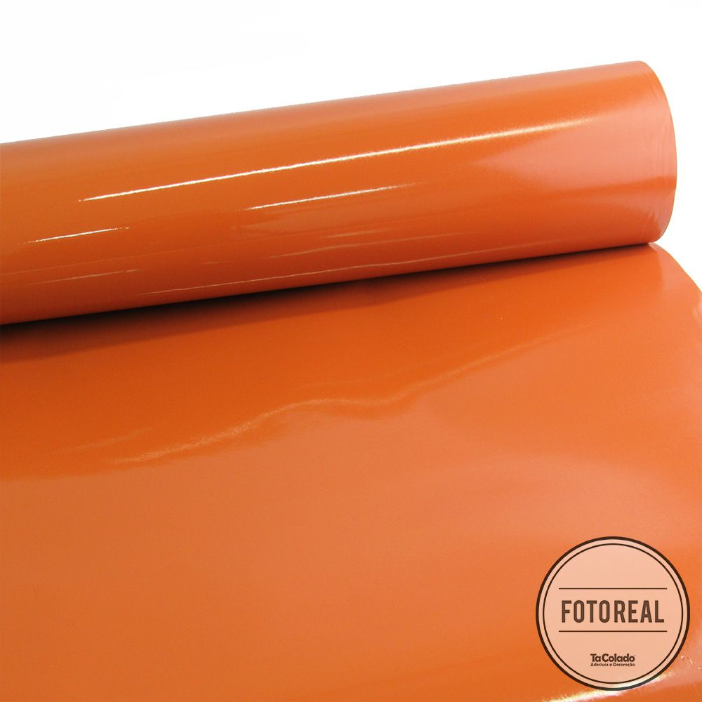 Adesivo para móveis Laca Alto Brilho Terra Cota 0,61m  - TaColado