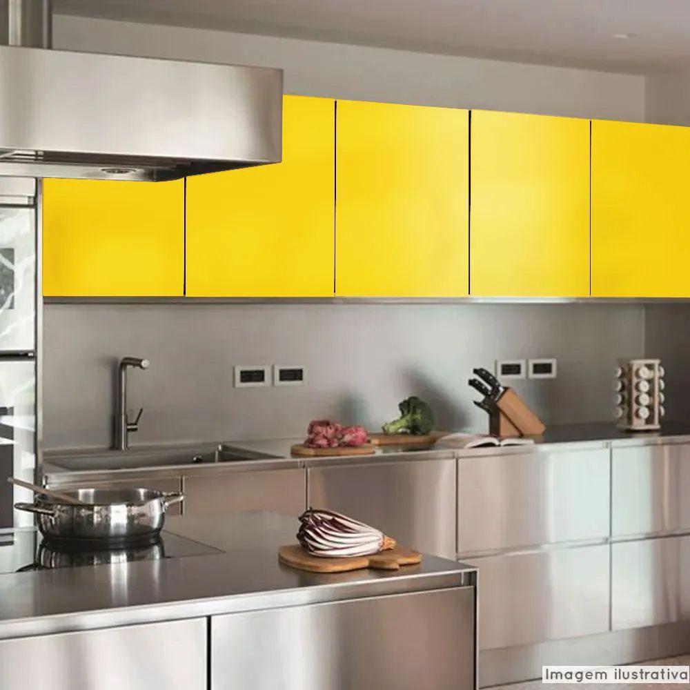 Adesivo para Móveis Brilhante Amarelo Canário 1,00m  - TaColado