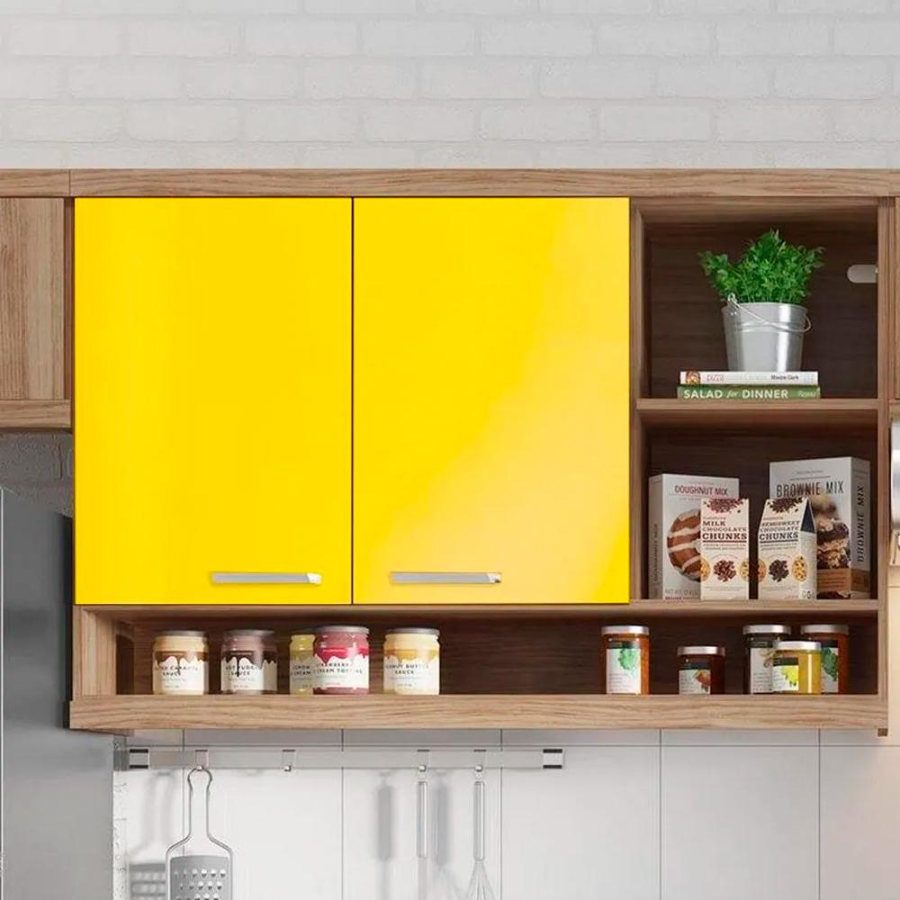 Adesivo para Móveis Brilhante Amarelo Médio 1,00m  - TaColado