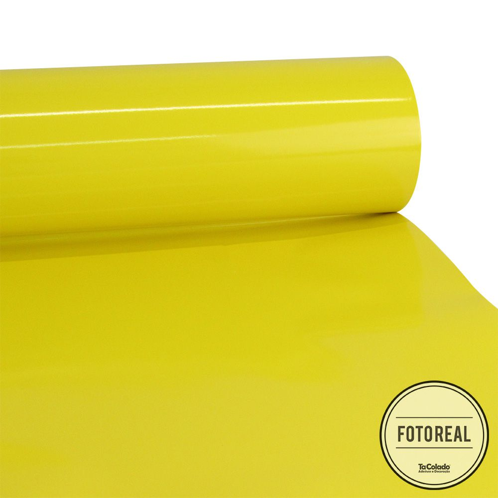 Adesivo para Móveis Brilhante Amarelo Milano 0,50m  - TaColado