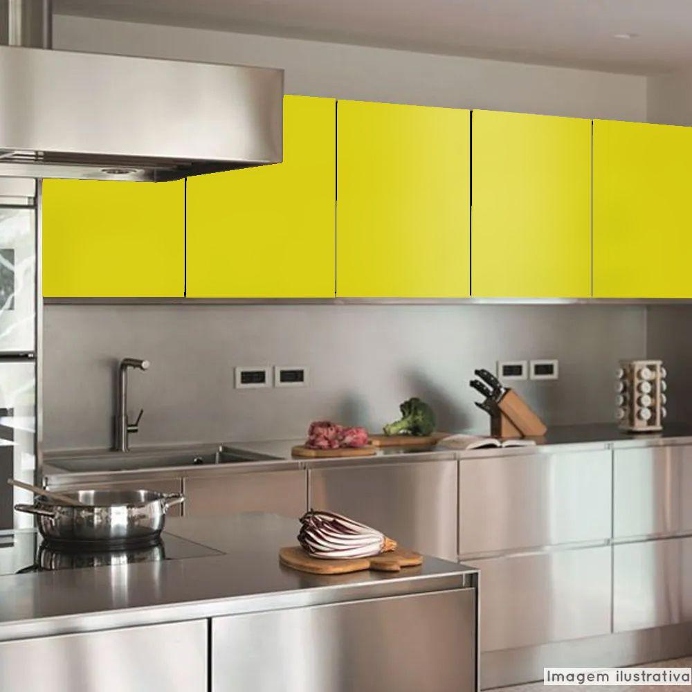Adesivo para Móveis Brilhante Amarelo Milano 1,00m  - TaColado