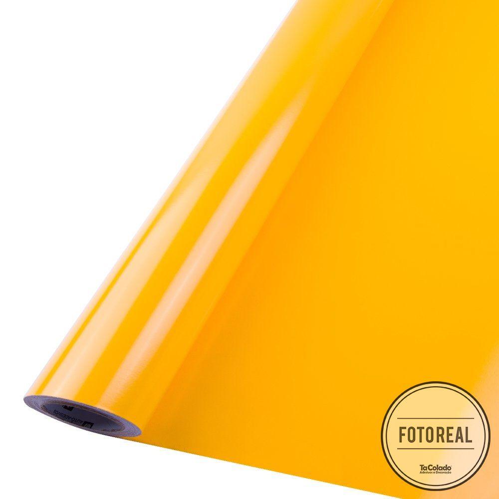 Adesivo para móveis Brilhante Amarelo Ouro 0,50m  - TaColado