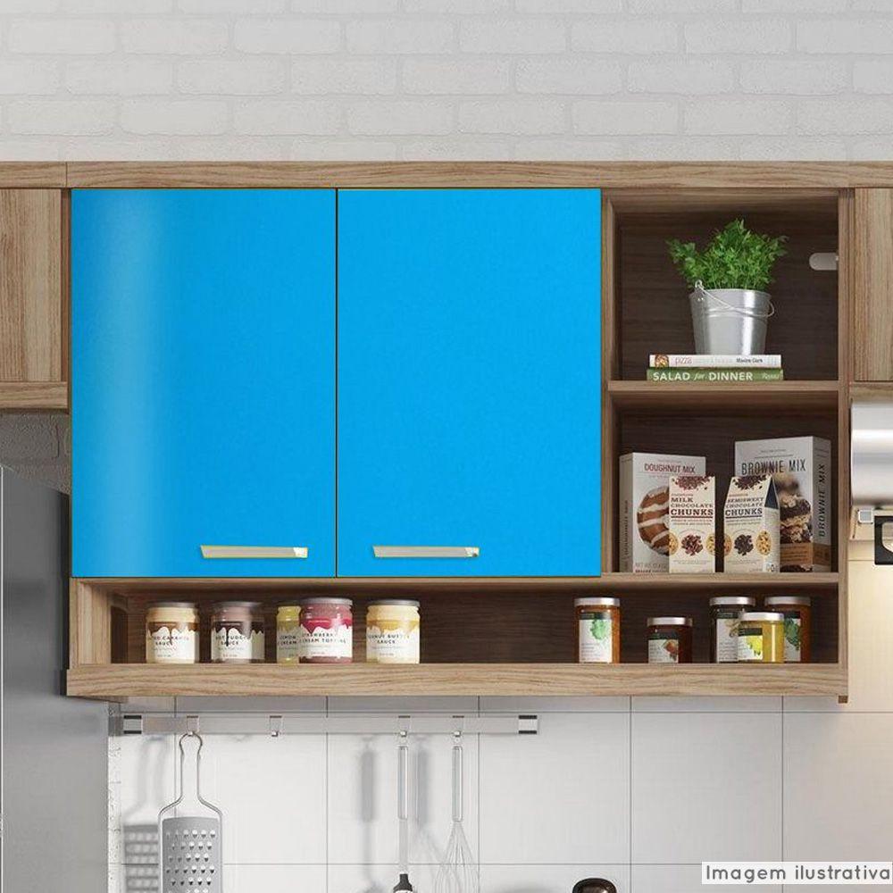 Adesivo para Móveis Brilhante Azul Céu 1,00m  - TaColado