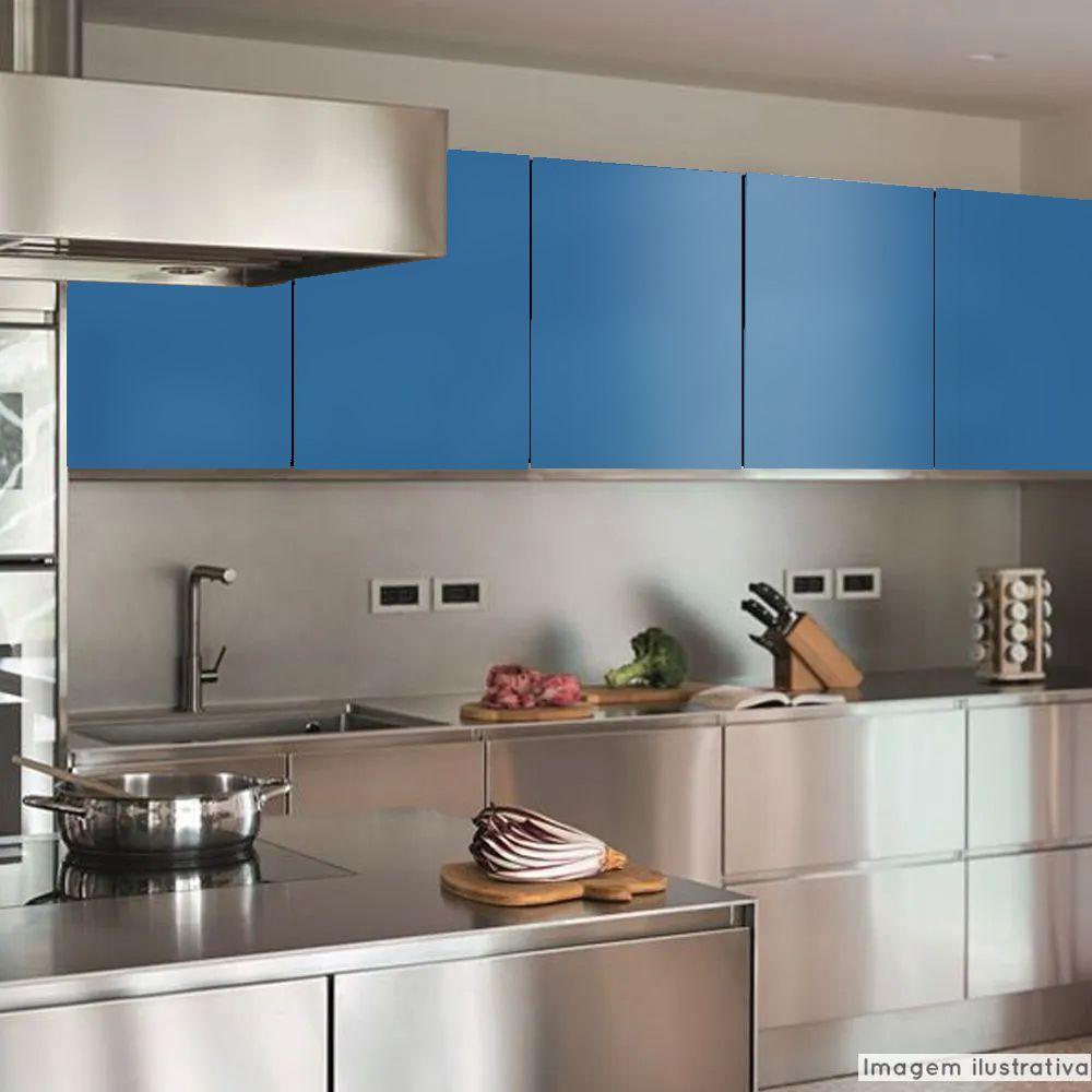 Adesivo para Móveis Brilhante Azul Indigo 0,50m  - TaColado