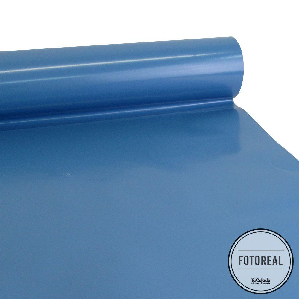 Adesivo para Móveis Brilhante Azul Indigo 1,00m  - TaColado