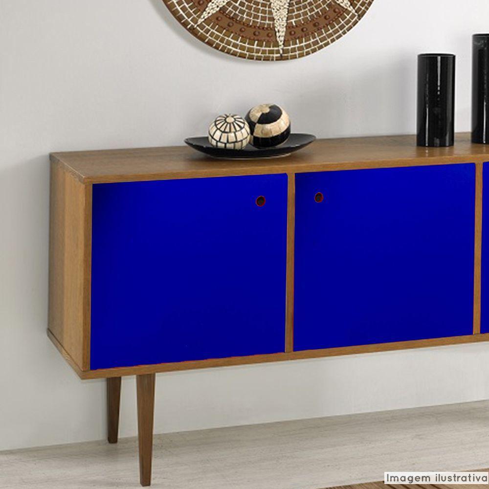 Adesivo para móveis Brilhante Azul Marinho 0,50m  - TaColado