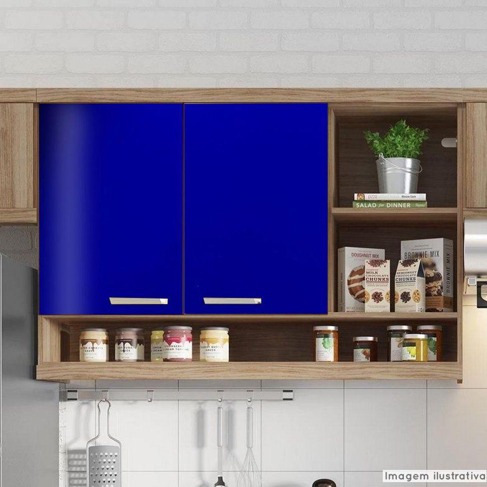 Adesivo para móveis Brilhante Azul Marinho 1,00m  - TaColado