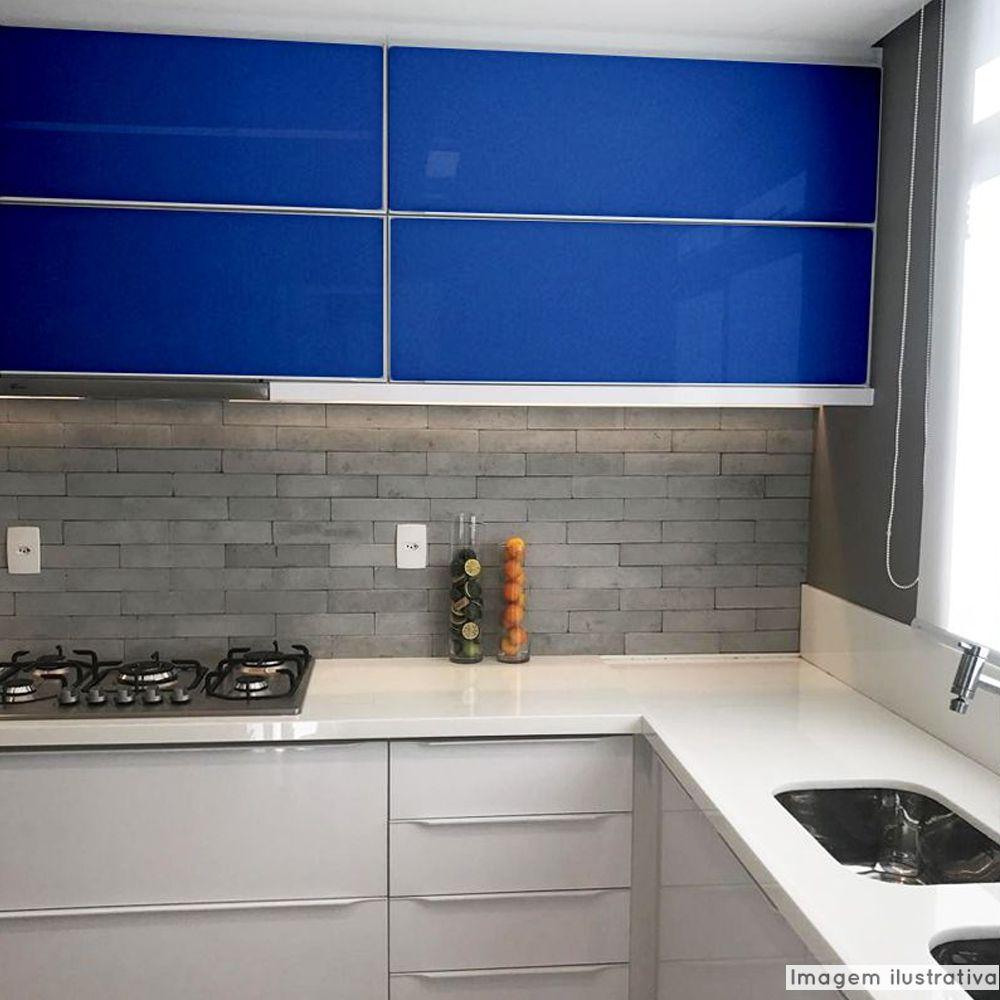 Adesivo para móveis Brilhante Azul Médio 0,50m  - TaColado