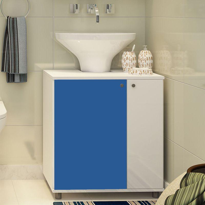 Outlet - Adesivo para móveis Brilhante Azul Médio 0,50m  - TaColado