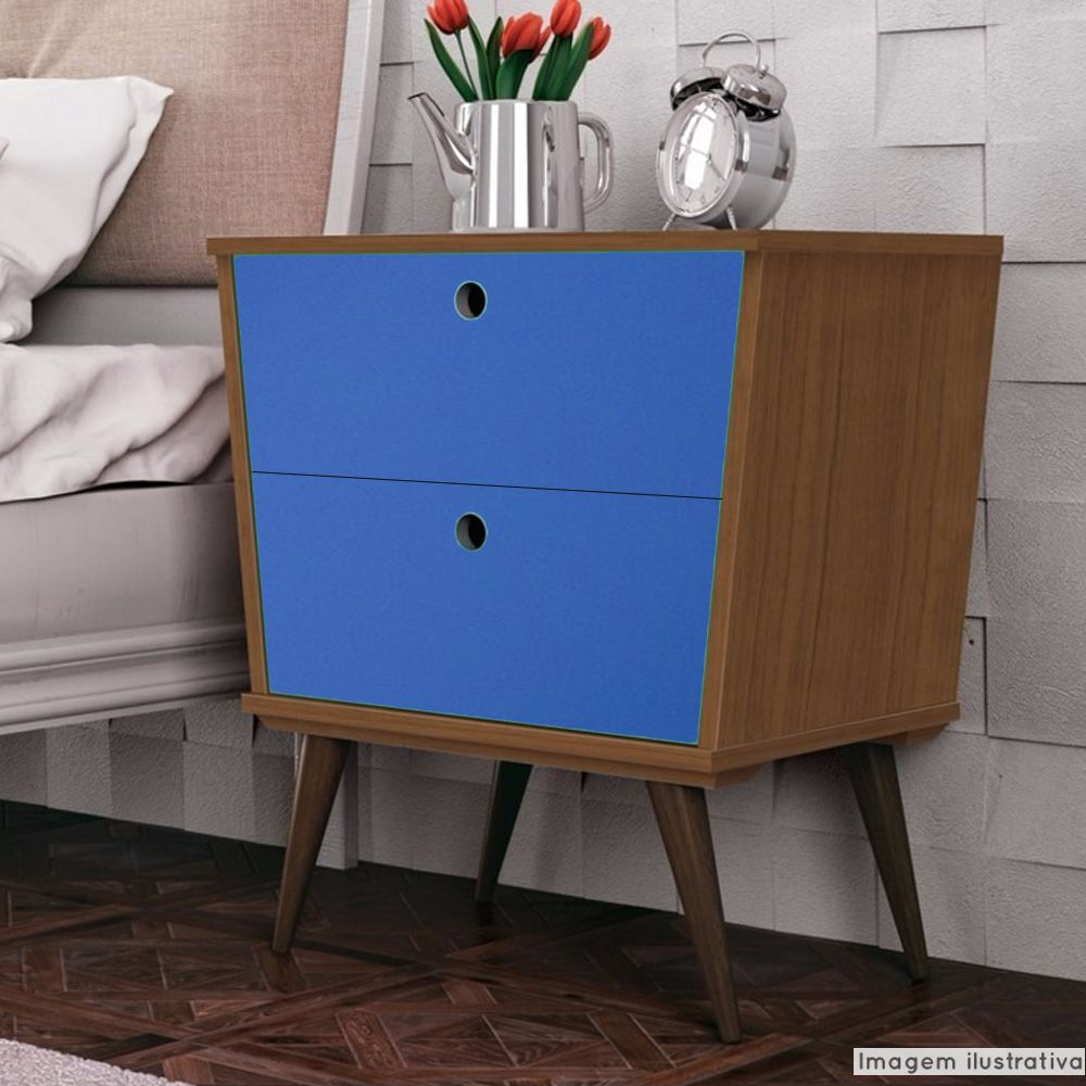 Adesivo para móveis Brilhante Azul Médio 0,61m  - TaColado
