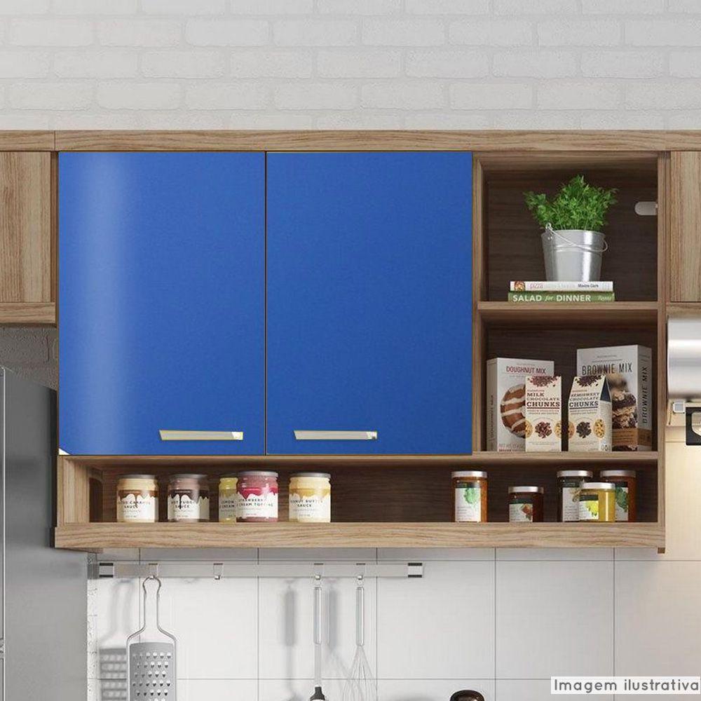 Adesivo para móveis Brilhante Azul Médio 1,00m  - TaColado