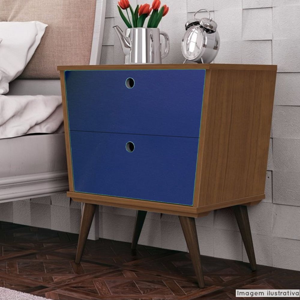 Adesivo para móveis Brilhante Azul Noturno 1,00m  - TaColado
