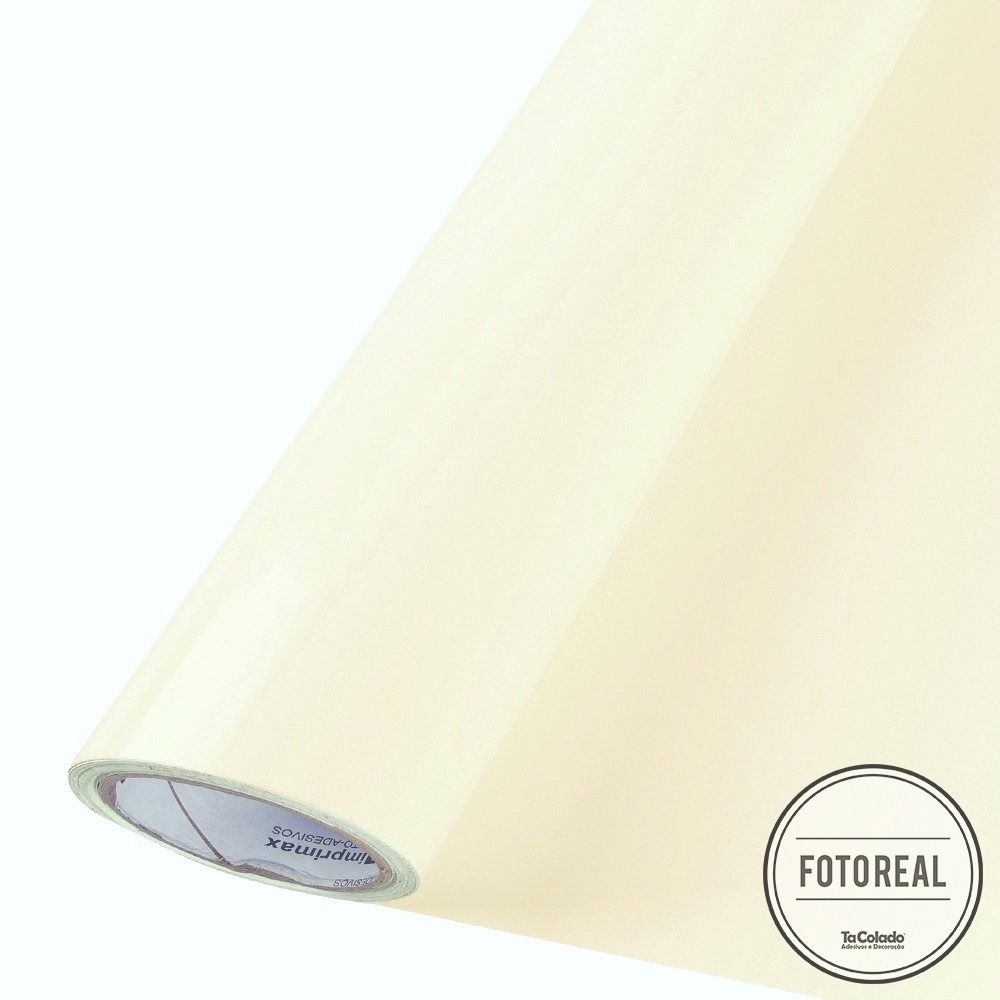 Adesivo para móveis Brilhante Bege 1,00m  - TaColado