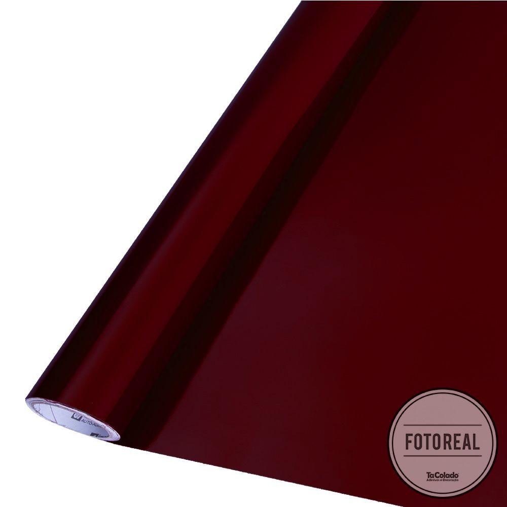 Adesivo para móveis Brilhante Bordô 1,00m  - TaColado
