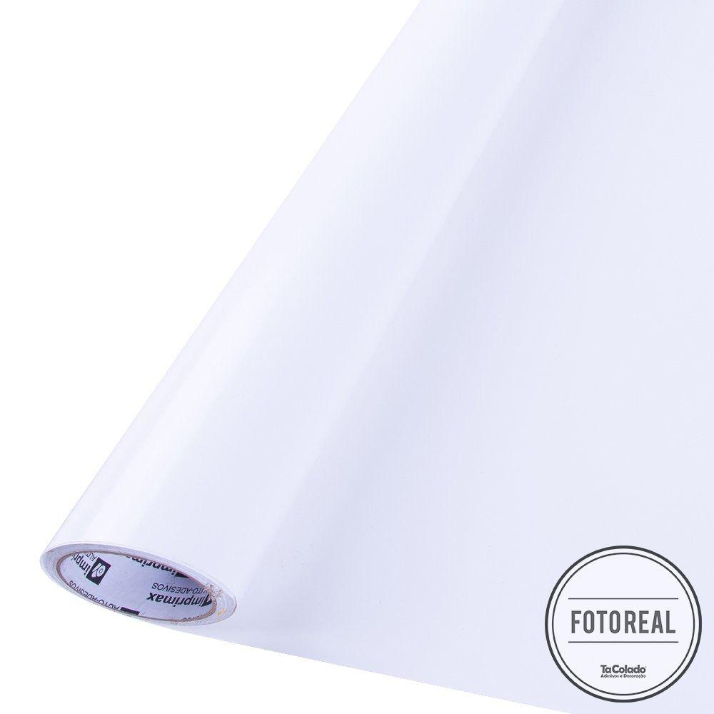Adesivo para móveis Brilhante Branco 1,00m  - TaColado
