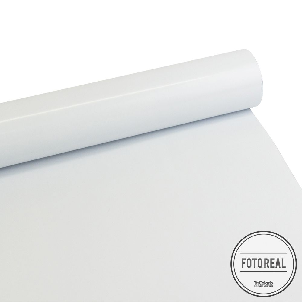 Adesivo para móveis Brilhante Branco Bloqueador 0,50m  - TaColado