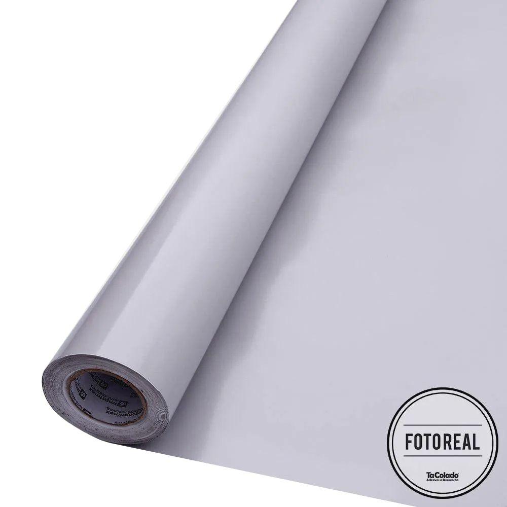 Adesivo para móveis Brilhante Cinza Claro 0,61m  - TaColado