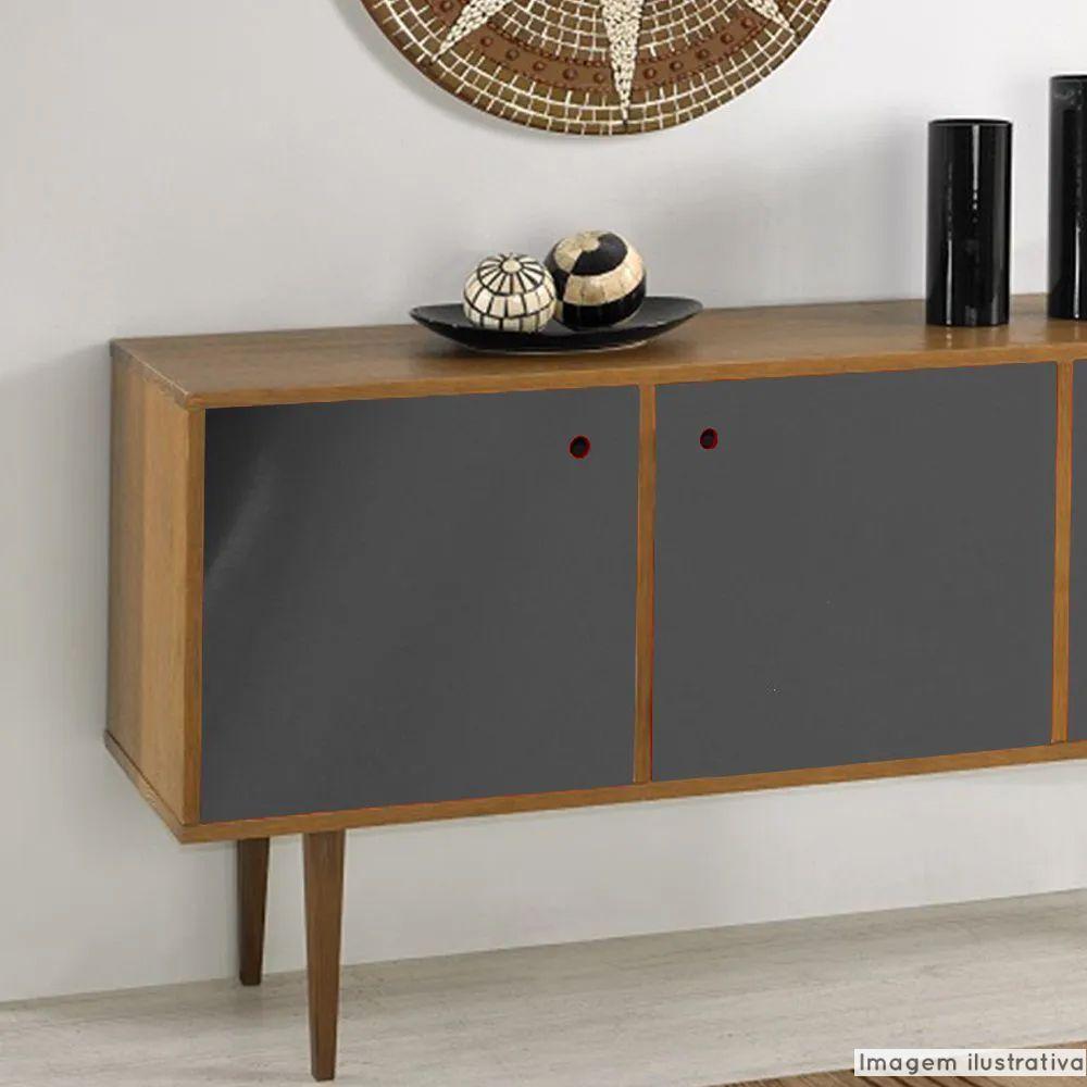Adesivo para móveis Brilhante Cinza Escuro 1,00m  - TaColado