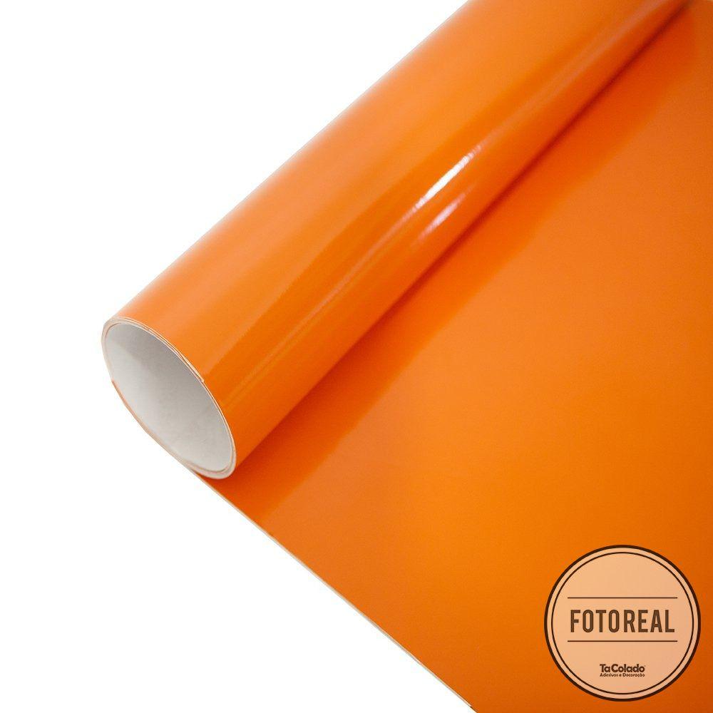Adesivo para móveis Brilhante Laranja 1,00m  - TaColado