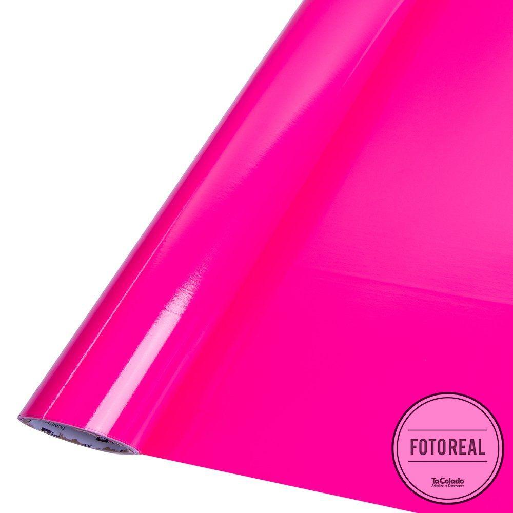 Adesivo para móveis Brilhante Magenta 0,50m  - TaColado