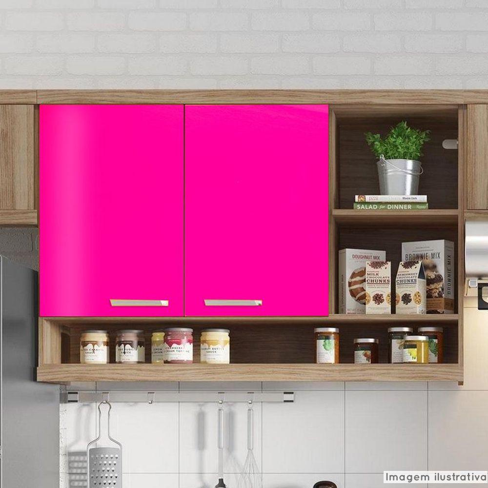 Adesivo para móveis Brilhante Magenta 1,00m  - TaColado