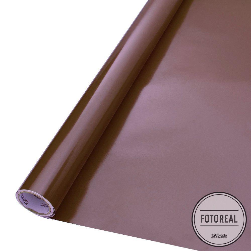 Adesivo para móveis Brilhante Marrom 0,50m  - TaColado