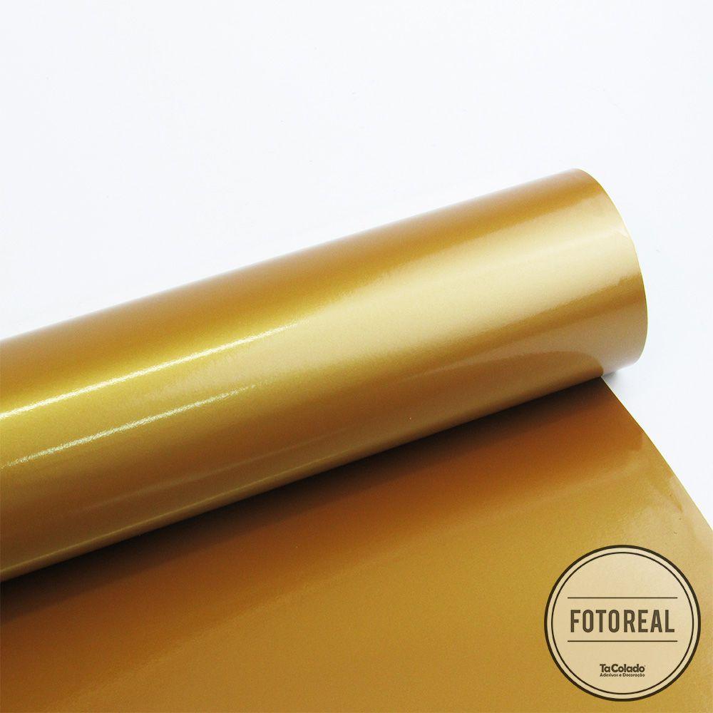 Adesivo para Móveis Brilhante Ouro 1,00m  - TaColado