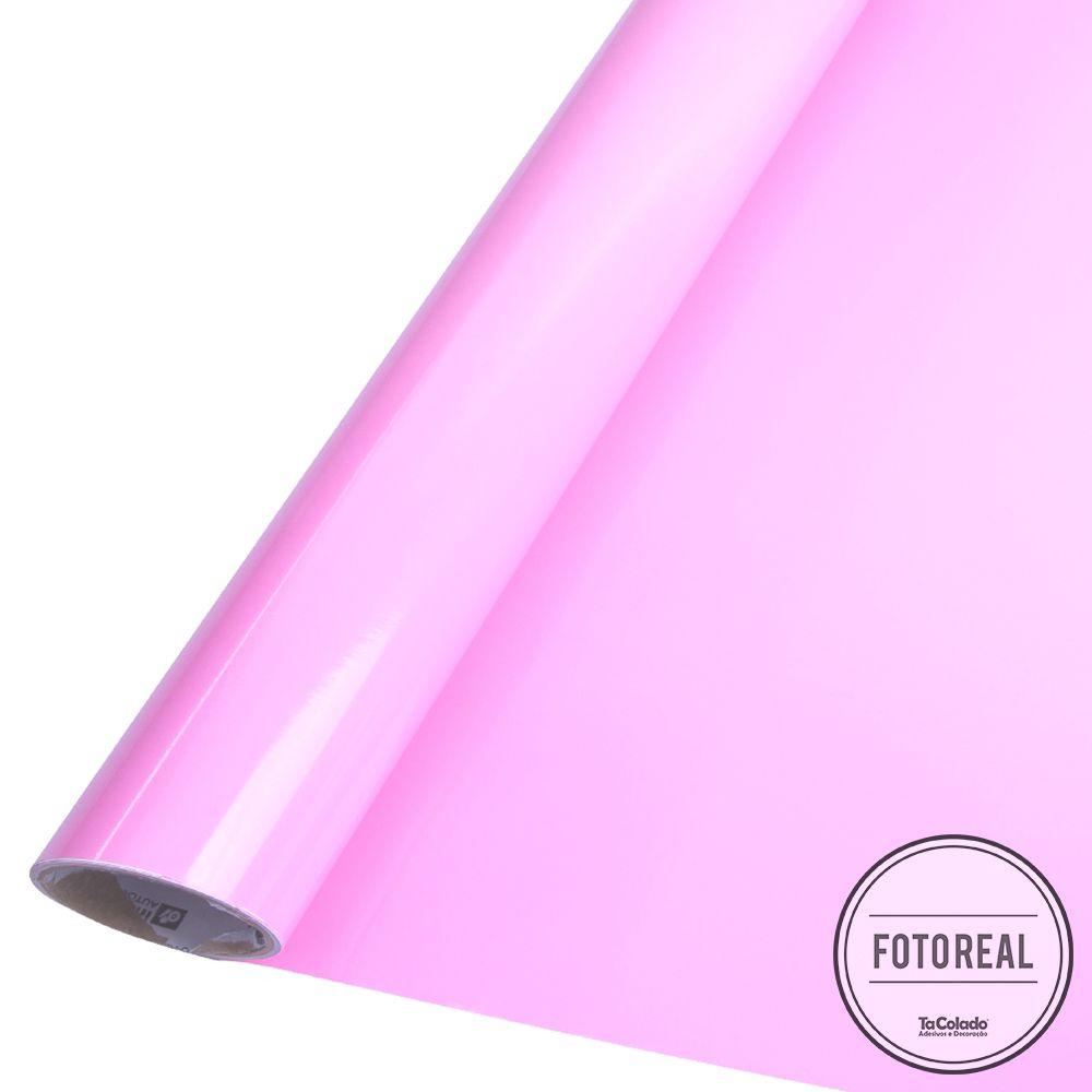 Adesivo para móveis Brilhante Rosa Claro 0,50m  - TaColado