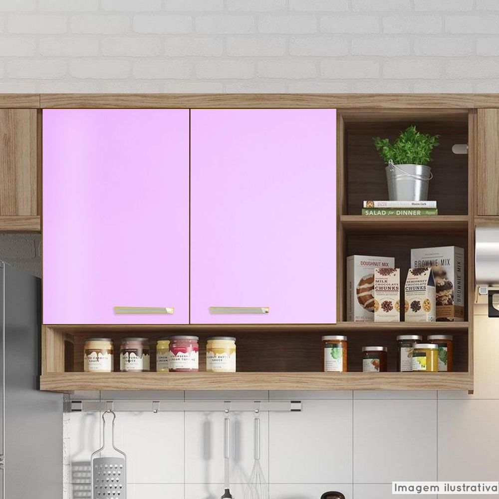 Outlet - Adesivo para móveis Brilhante Rosa Claro 0,61X2,00m  - TaColado