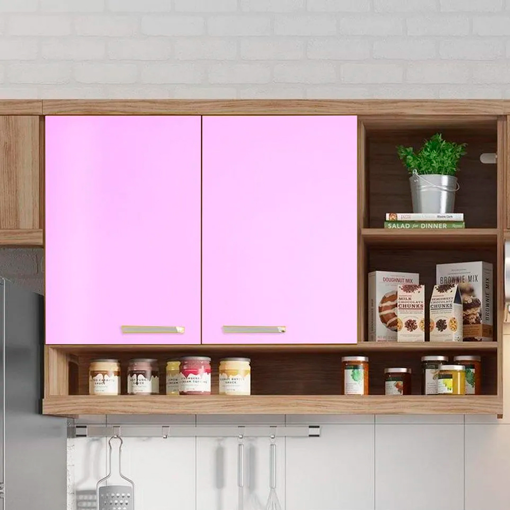 Adesivo para móveis Brilhante Rosa Claro 1,00m  - TaColado