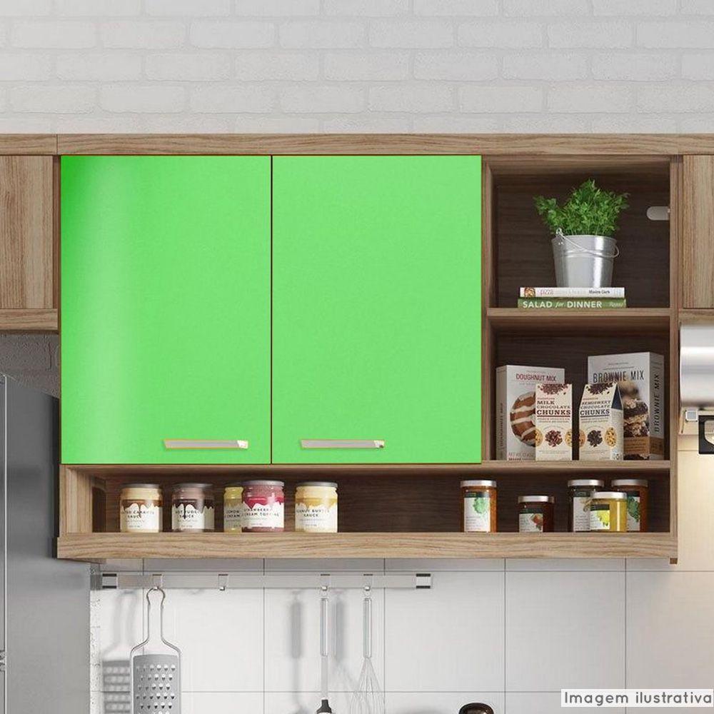 Adesivo para móveis Brilhante Verde Abacate 0,50m  - TaColado