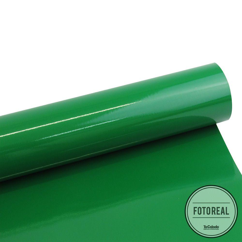 Adesivo para móveis Brilhante Verde Amazonas 0,50m  - TaColado