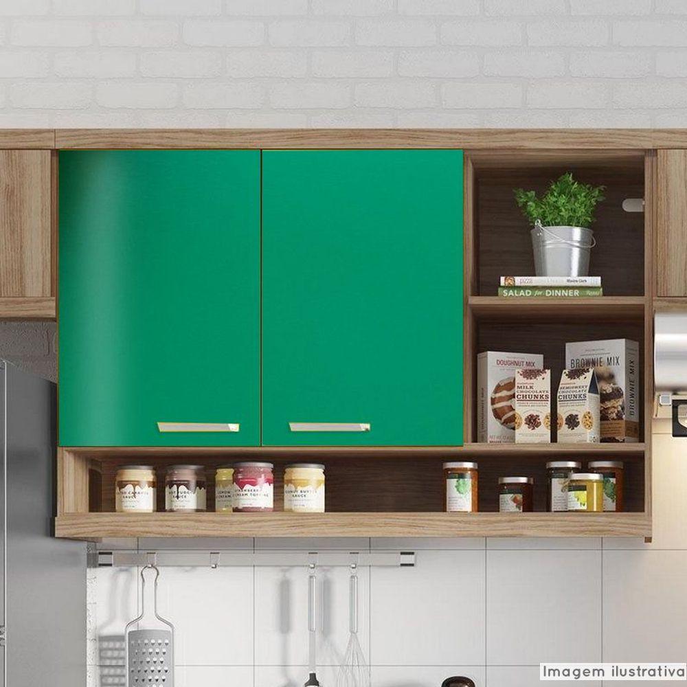 Adesivo para móveis Brilhante Verde Bandeira 0,50m  - TaColado