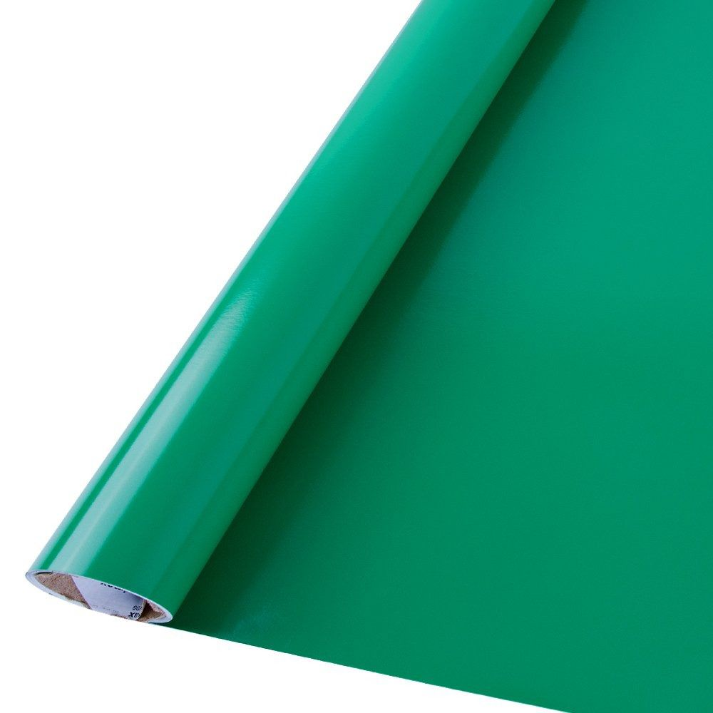 Outlet - Adesivo para Móveis Brilhante Verde Bandeira  - TaColado