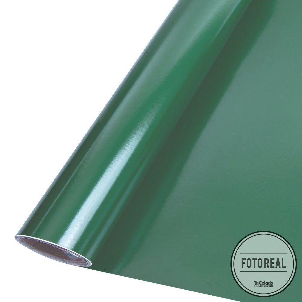 Adesivo para móveis Brilhante Verde Escuro 0,50m  - TaColado