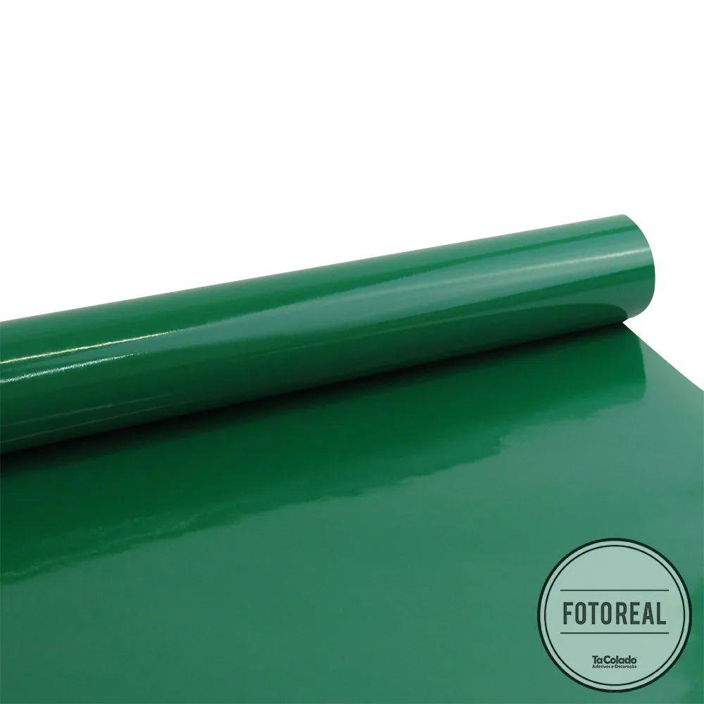 Outlet - Adesivo para móveis Brilhante Verde Folha 0,61m  - TaColado