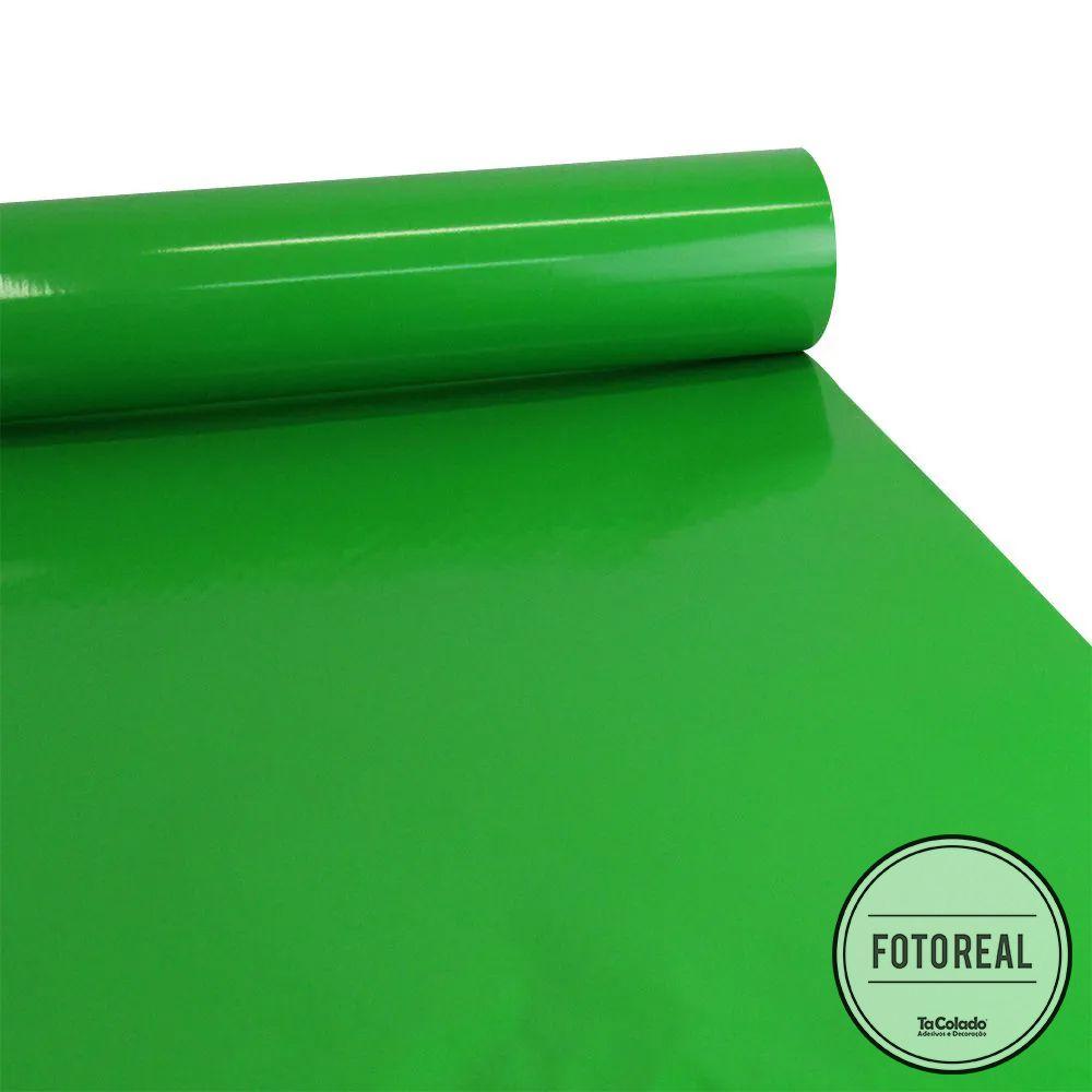 Adesivo para Móveis Brilhante Verde Jardim 0,50m  - TaColado