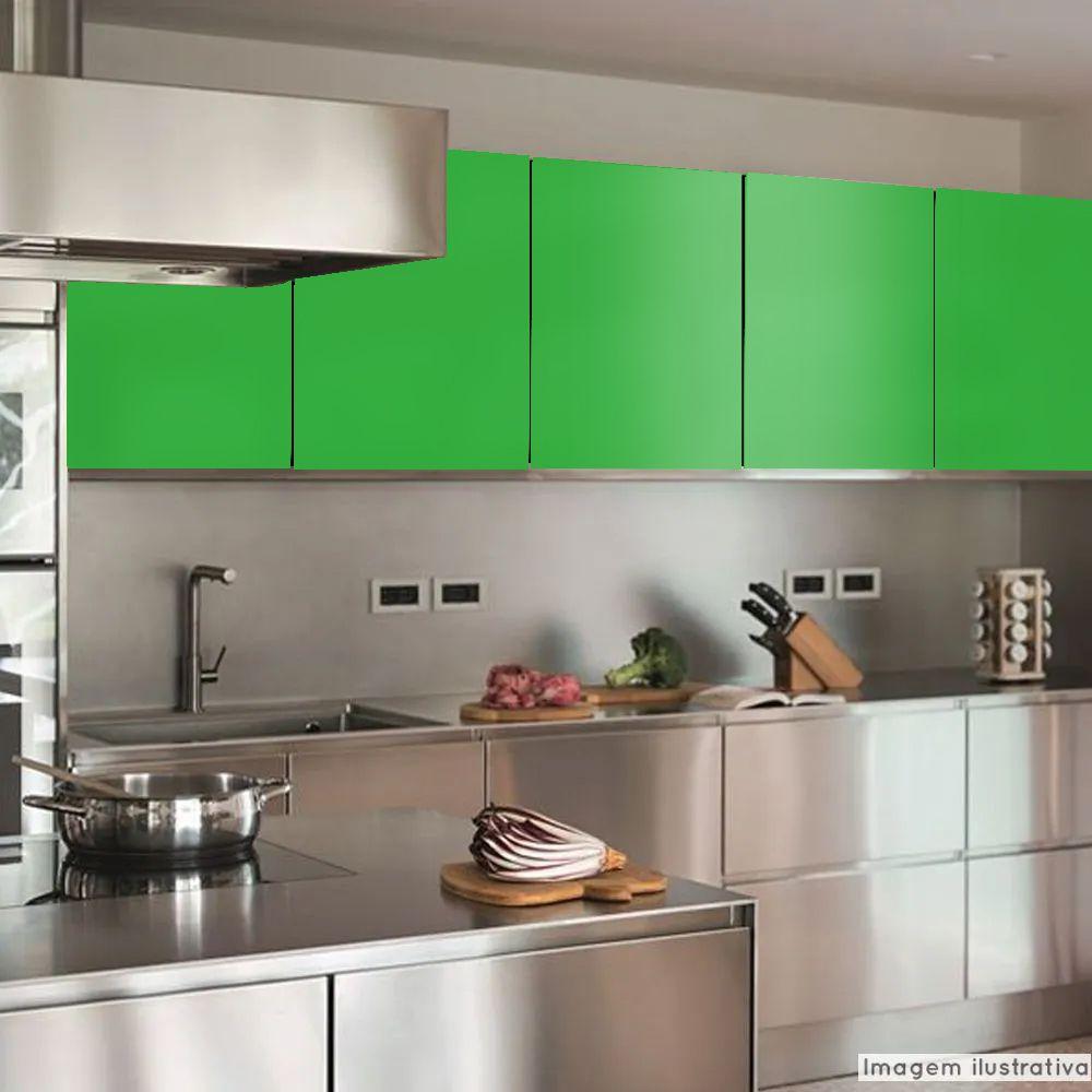 Adesivo para Móveis Brilhante Verde Jardim 1,00m  - TaColado