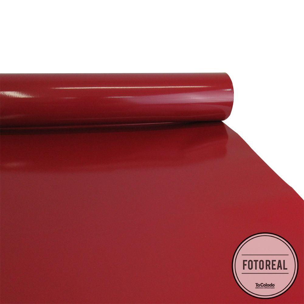 Adesivo para Móveis Brilhante Vermelho Escuro 0,50m  - TaColado